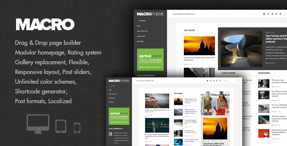 Macro - Personal Blog & Magazine Theme - News / Editorial Blog / Magazine