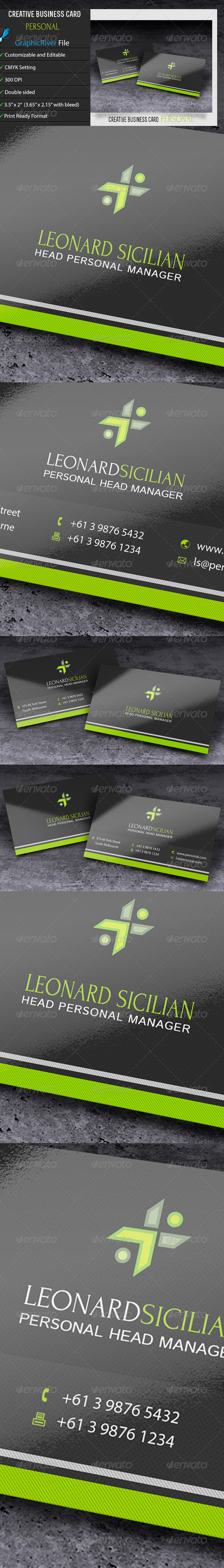 GraphicRiver Creative Business Card Personal 6654012