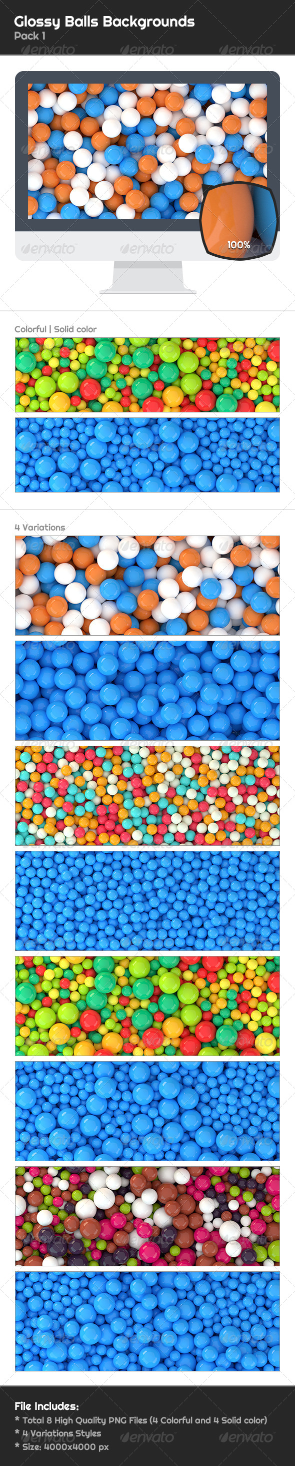 GraphicRiver 8 Glossy Balls Backgrounds Pack 1 6644459