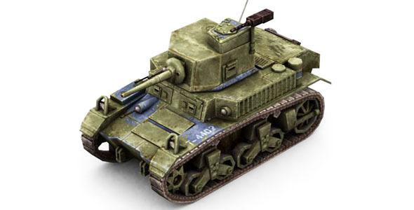 3DOcean Military Modern War Light Tank Blue 6654041