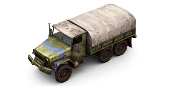 3DOcean Military Modern War Transport Truck Blue 6654054