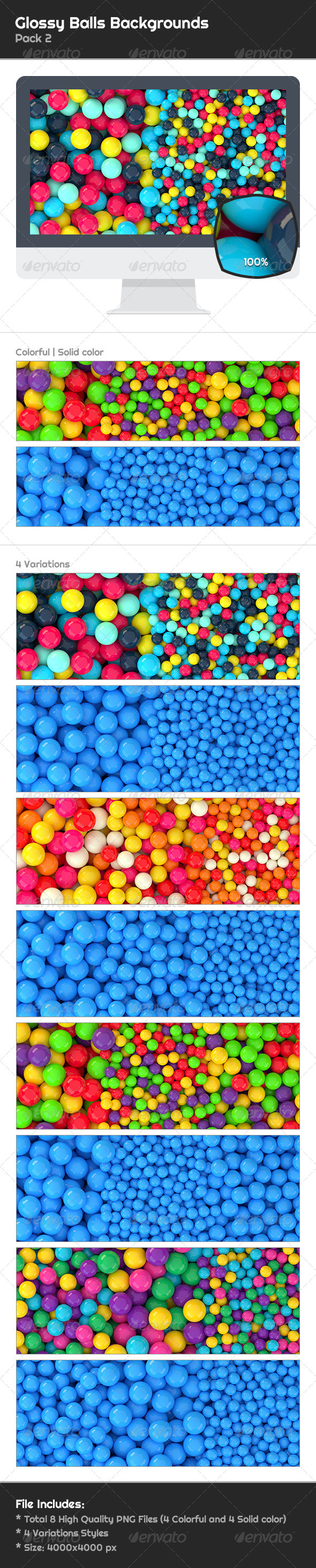 GraphicRiver 8 Glossy Balls Backgrounds Pack 2 6654201