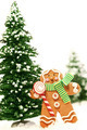 Little gingerbread man with trees - PhotoDune Item for Sale
