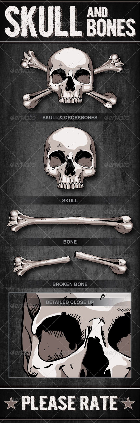GraphicRiver Skull and Bones 6648016