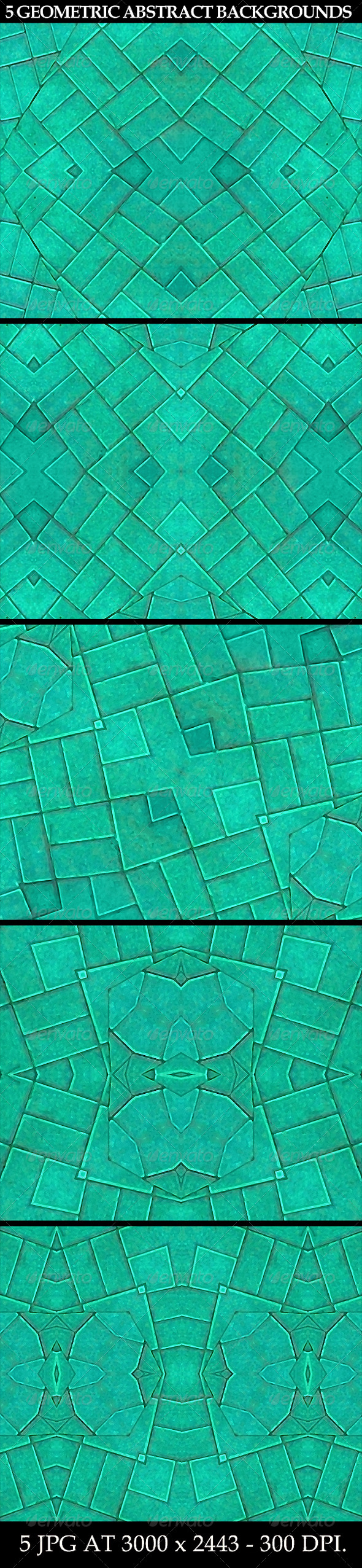 5 Geometric Abstract Backgrounds