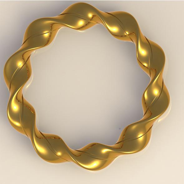 Gold Bracelet - 3DOcean Item for Sale