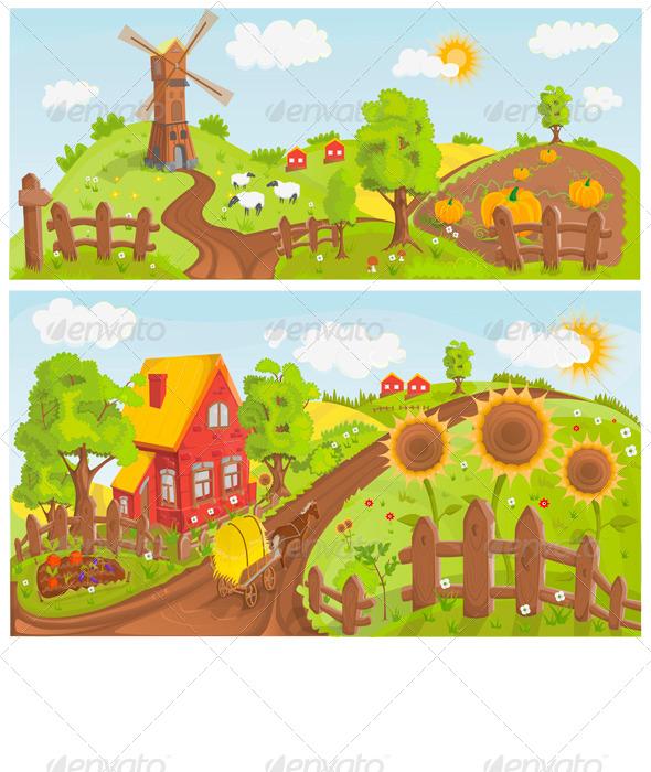 GraphicRiver Rural Landscape 6654599