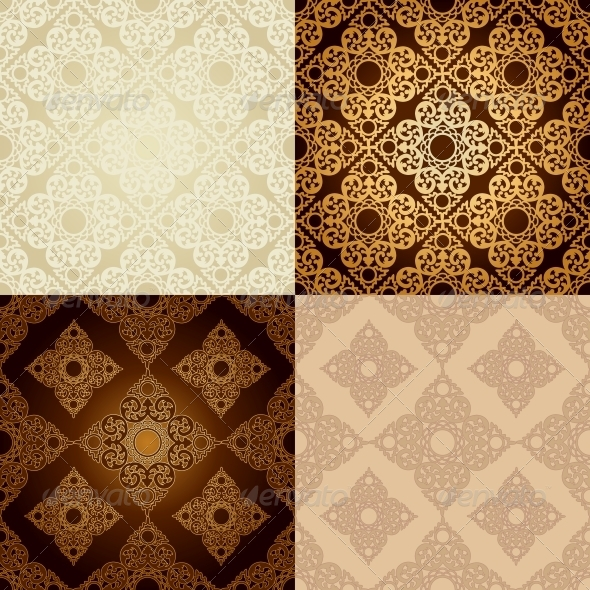 GraphicRiver Set of Seamless Patterns in Islamic Style 6654674