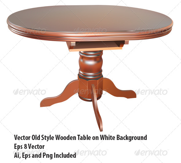 GraphicRiver Wooden Table 6654737