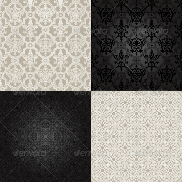 Set of Seamless Patterns in Islamic Style