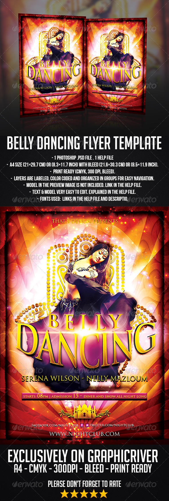 GraphicRiver Belly Dancing Flyer Template 6643858