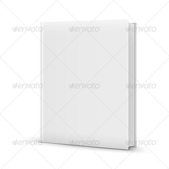 GraphicRiver Blank White Standing Book Template 6654933