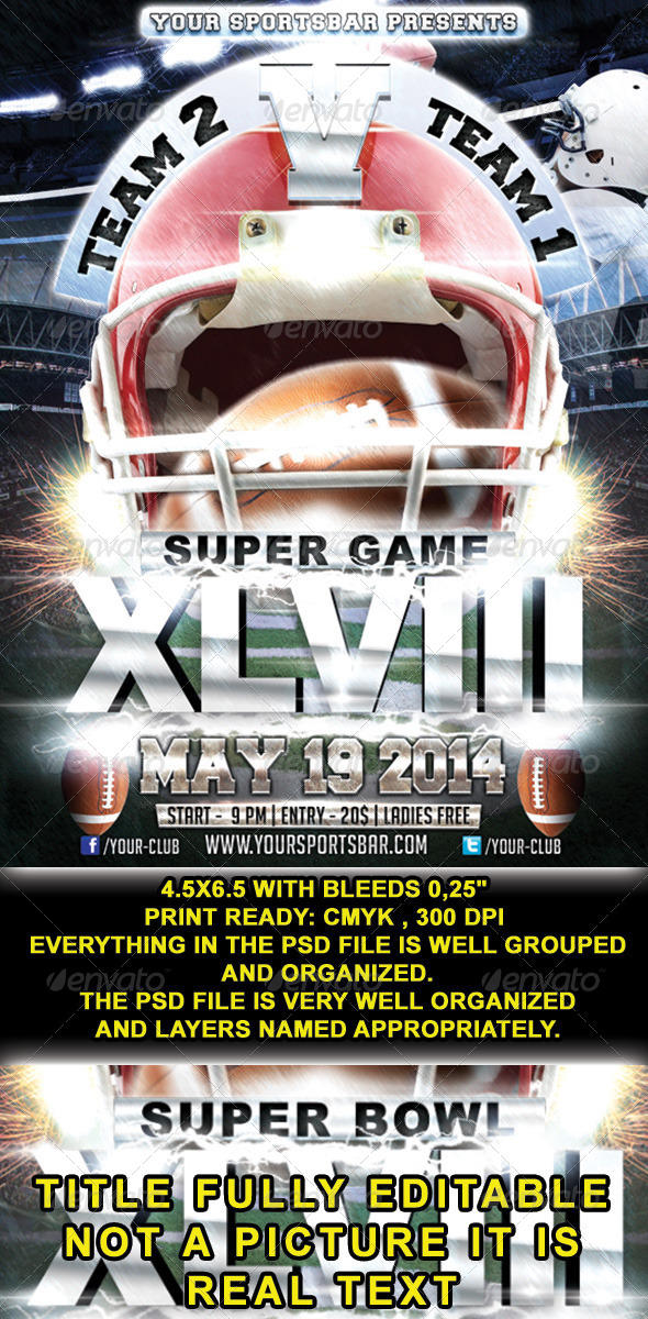 GraphicRiver Super Bowl Weekend 6654545