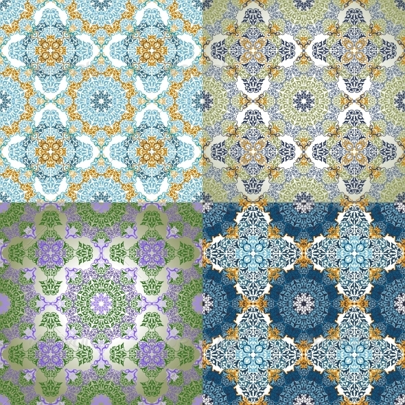 GraphicRiver Set of Seamless Patterns in Islamic Style 6654972