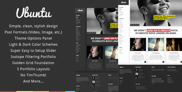 Ubuntu - Creative Portfolio WordPress Theme