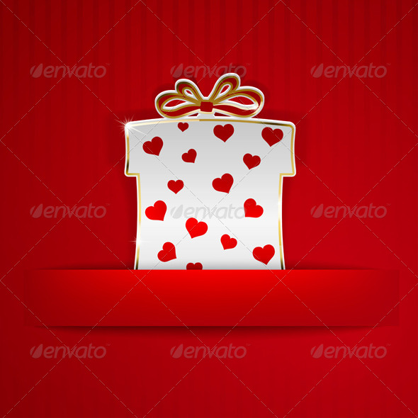 GraphicRiver Gift Box with Hearts Cut Out of Paper 6654982