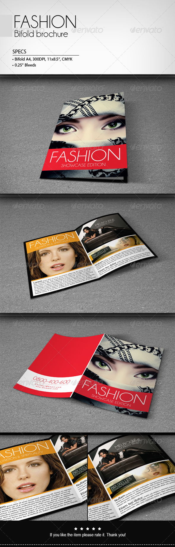 GraphicRiver Fashion Bifold Brochure 6655062