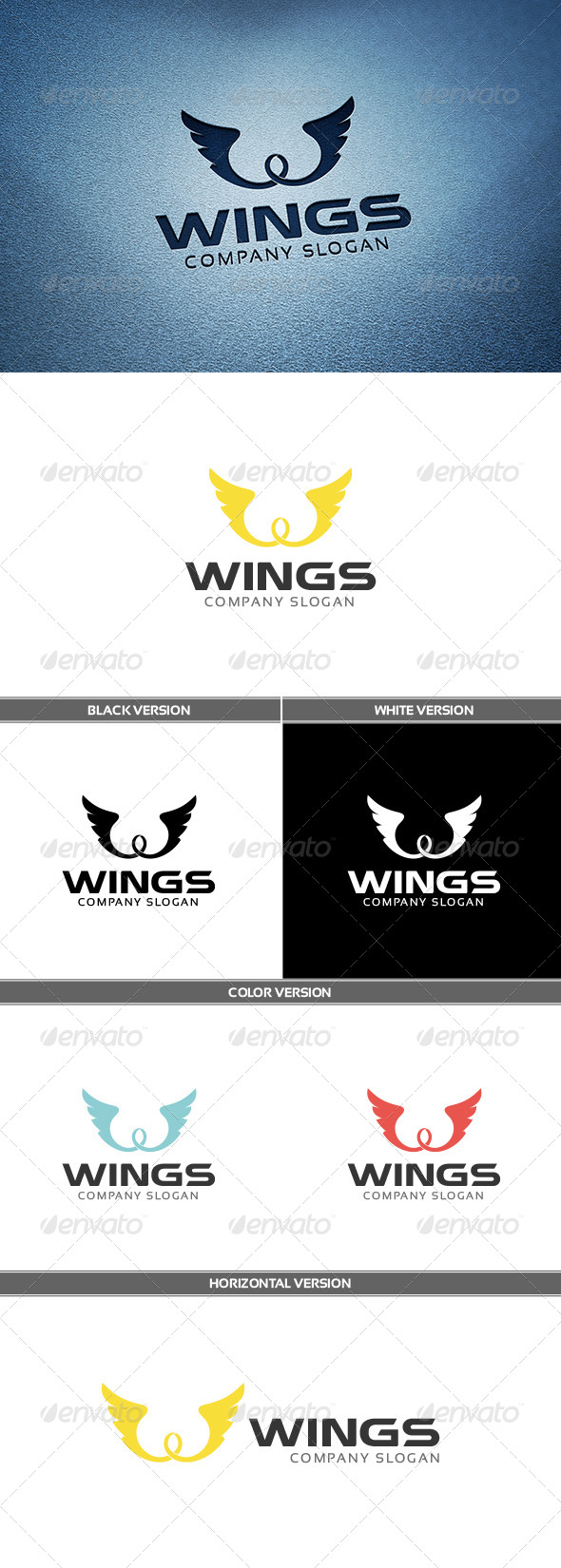 GraphicRiver Wings Logo 6655084