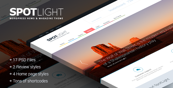 ThemeForest SpotLight Clean News Magazine & Blog 6655484
