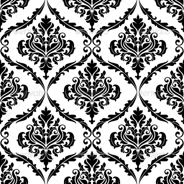 Ornate Floral Arabesque Decorative Pattern