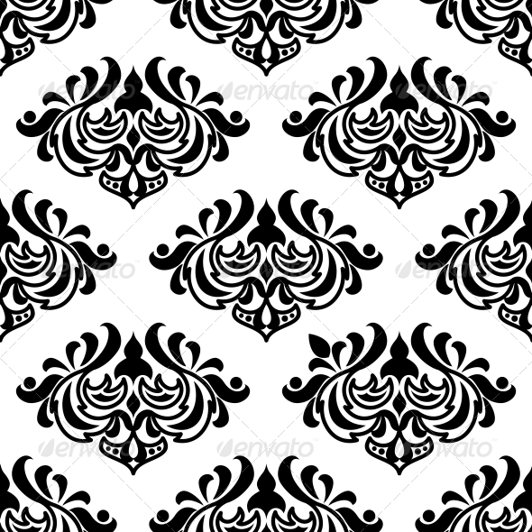 GraphicRiver Seamless Damask-Style Floral Pattern 6655648