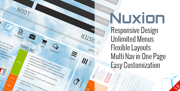 CodeCanyon Nuxion Responsive UX Navigation Menu Bar 6655807