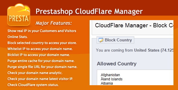 CodeCanyon PrestaShop CloudFlare Manager 6655808