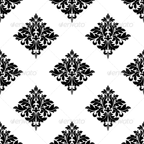 GraphicRiver Diamond Shaped Seamless Arabesque Pattern 6655827