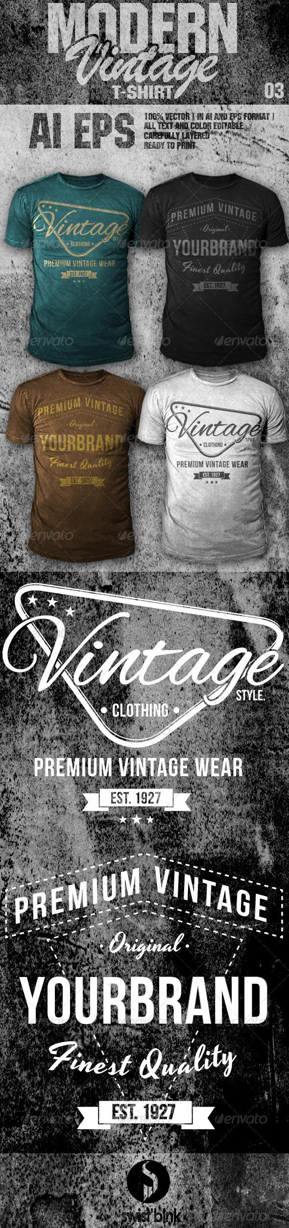 GraphicRiver Modern Vintage T-Shirt 03 6655954