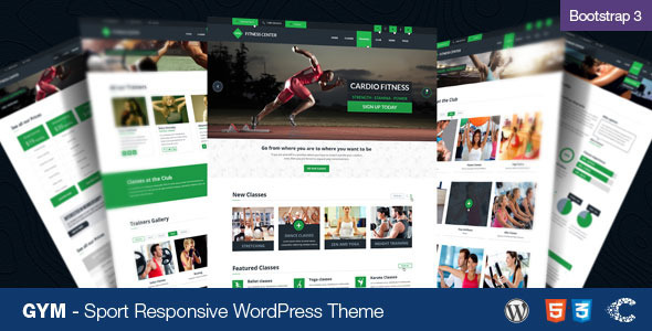 GYM - Sport Fitness Bootstrap Responsive Theme - Miscellaneous WordPress