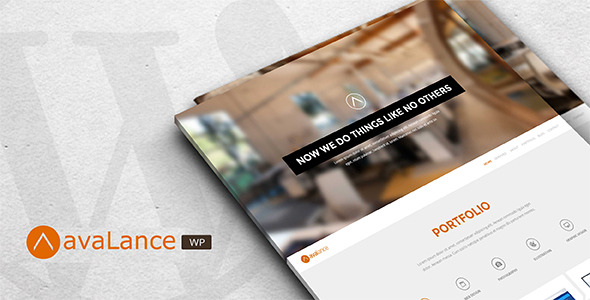 Avalance - WordPress Portfolio Website Theme