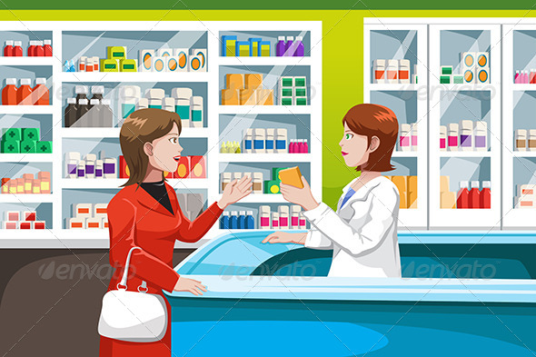 GraphicRiver Buying Medicine in Pharmacy 6656242
