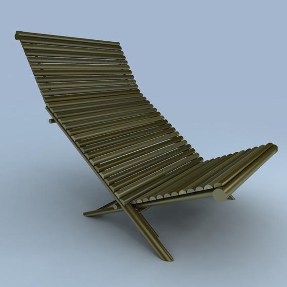 3DOcean deck chair 6656716