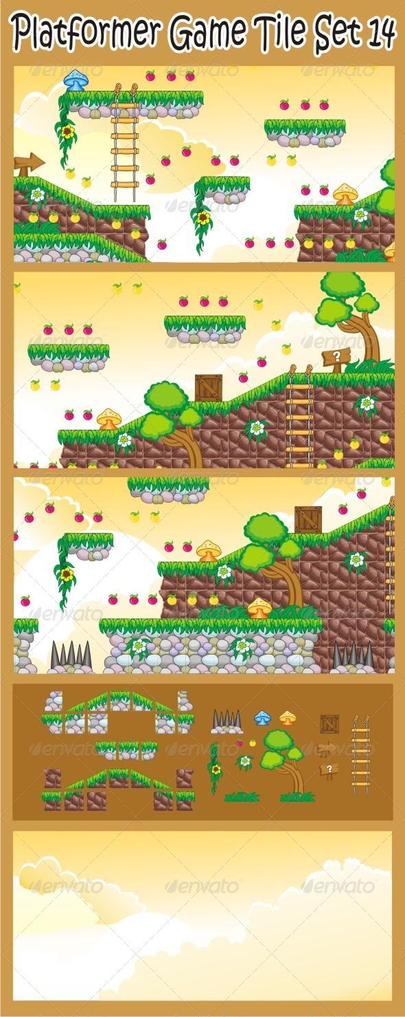 GraphicRiver Platformer Game Tile Set 14 6656828