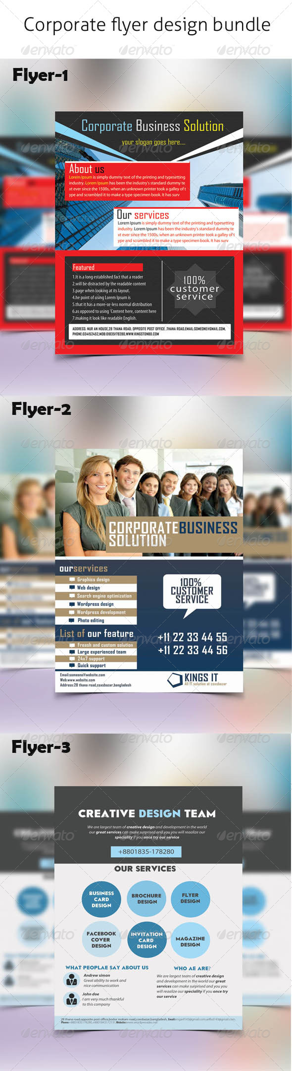 GraphicRiver Corporate Business Flyer Bundle 6648934