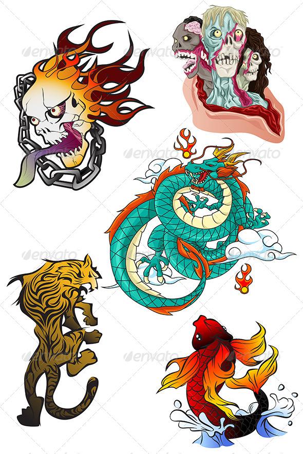 GraphicRiver Tattoo Designs 6656974
