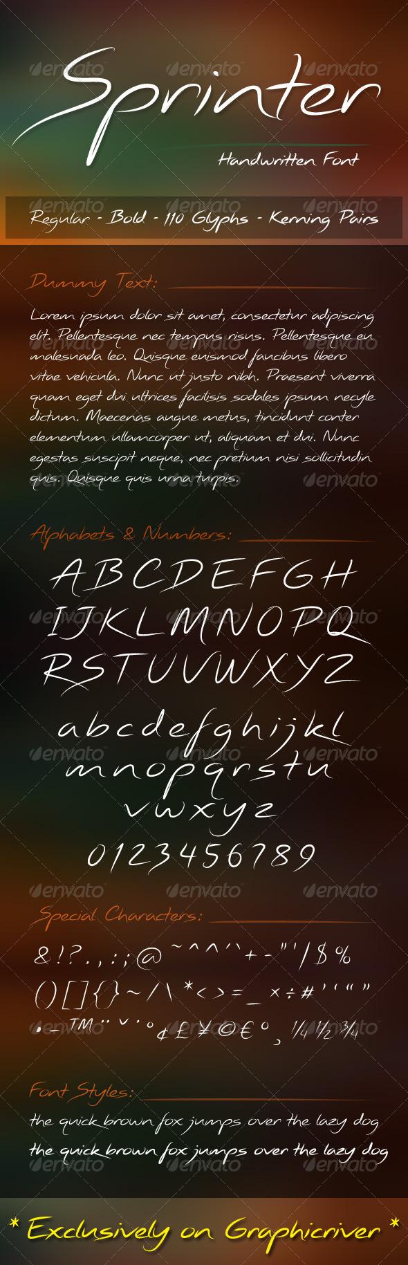 GraphicRiver Sprinter Font 6657068