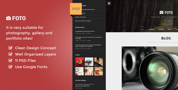 Foto -  PSD Template for Photography and Gallery