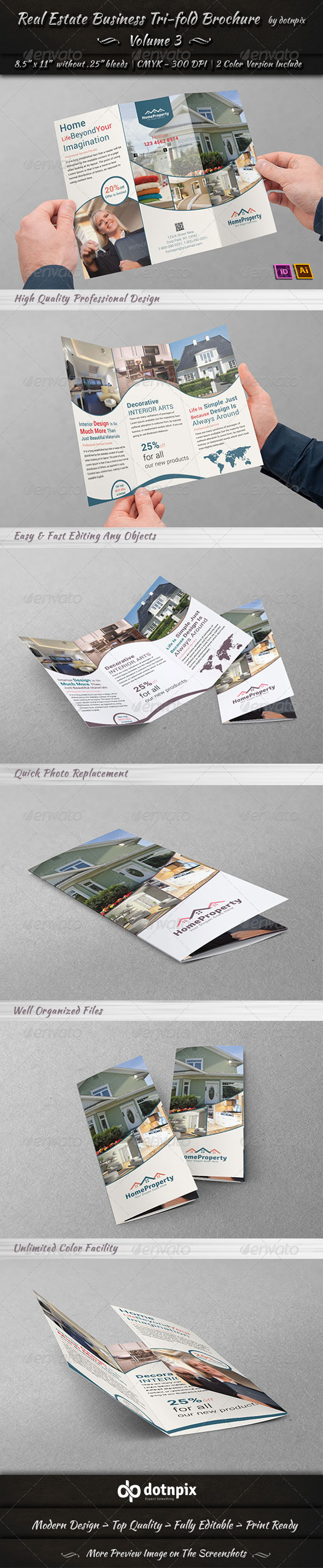 GraphicRiver Real Estate Business TriFold Brochure Volume 3 6657141