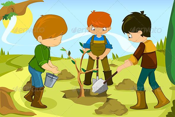 GraphicRiver Volunteer Kids 6657704