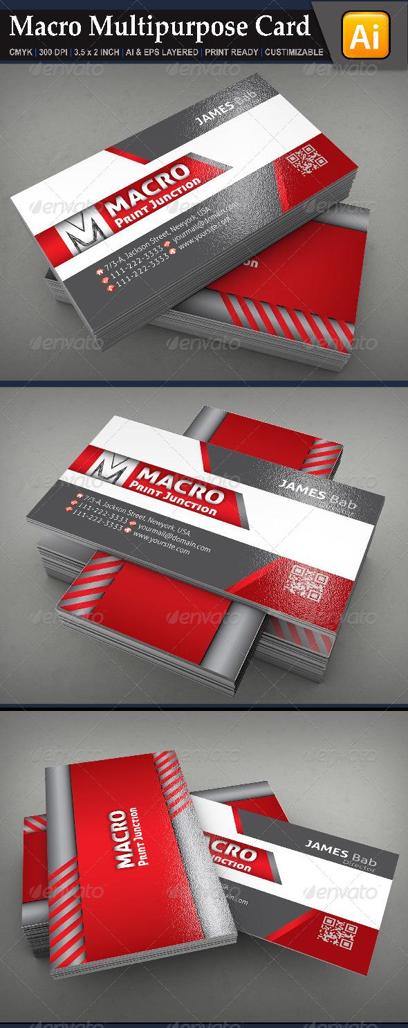 GraphicRiver Macro Multipurpose Card 6657964