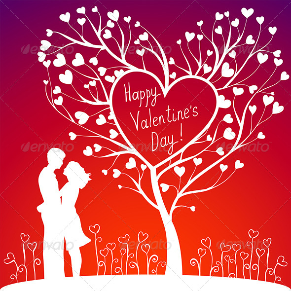 GraphicRiver Couple with Valentines Tree 6657977