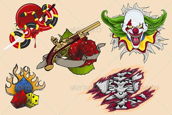 GraphicRiver Tattoo Designs 6658001