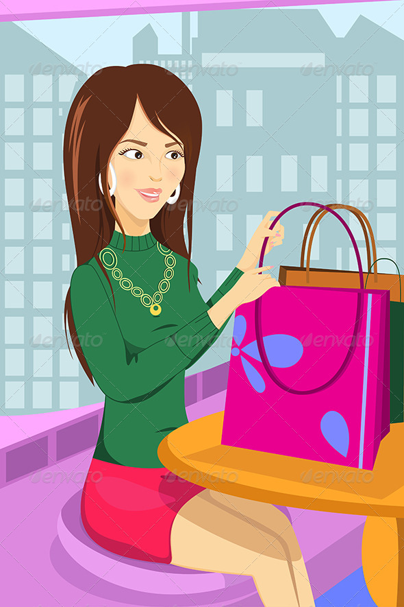 GraphicRiver Shopping Woman 6658038