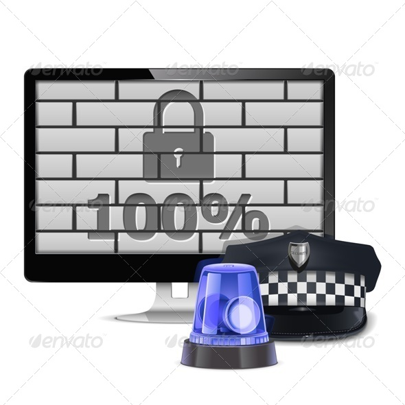 GraphicRiver Vector Computer Security Concept 6658181