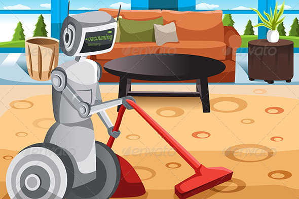 GraphicRiver Robot Vacuuming Carpet 6658183