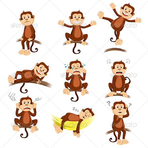 GraphicRiver Monkey with Expressions 6658192