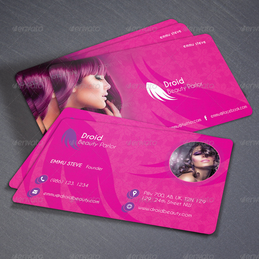 Beauty Parlor Business Card V01 By Oksrider Graphicriver