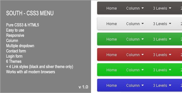 CodeCanyon South CSS3 Menu 6658421