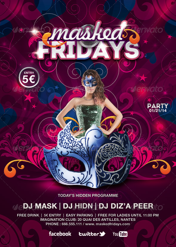 GraphicRiver Masked Fridays Party 6655672
